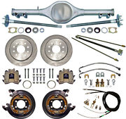 Currie 68-74 X-body Mono-leaf Rear End And Disc Brakeslinesparking Cablesaxles