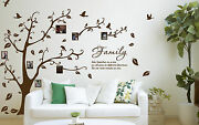 Family Photo Tree And Birds Art Vinyl Wall Sticker Home Wall Decal- High Quality
