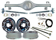 Currie Rear End And 11 Drum Brakes,lines,parking Cables,fits Jeep Xj Cherokee