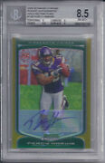 2009 Bowman Chrome Gold Refractor Percy Harvin Rc Auto 138 Vikings Graded 8.5
