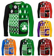 Nba 2014 Logo Ugly Christmas Sweater Busy Block Style - Pick Your Team