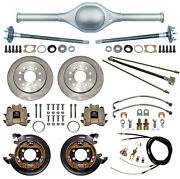 Currie 9 Ford 58 Street Rod Rear End And Disc Brakeslinesparking Cablesaxles