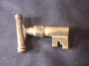 Rare Old Vtg Collectible Locking Key Clock Maybe For A Pocket Door