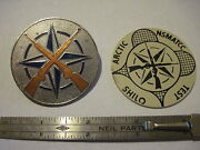 Nato Two Badge Set Rare Small Arms Test Commission Nsmatcc Canada Cold Weather