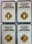 2004 Argentina Spain Italy Uruguay Set 4 Gold Coins Soccer Championship Germany