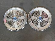 Set Of 2- 1965 Ford 15 Hubcaps/wheel Covers 968