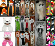 Costume Animal Hat Scarf Gloves Mittens Paws Adults Kids