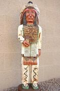6and039 Cigar Store Indian 6 Ft Chief W Thunderbird Breastplate By Frank Gallagher