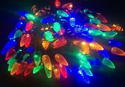 100 Multicolour Pine Cone/acorn Christmas Lights/8 Multi-function/indoor Faulty