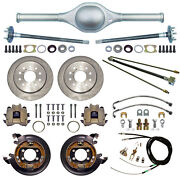Currie 9 Ford 60 Street Rod Rear End And Disc Brakeslinesparking Cablesaxles