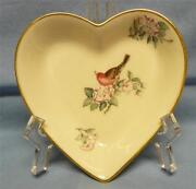 Lenox Serenade Heart Dish Decorated 24k Gold Made In Usa Vintage Excellent