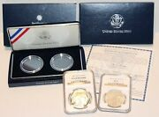 2001 1 Silver Buffalo Coin Ngc Pf70 And Ms70 Ogp And Capsules
