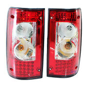 Rear Led Tail Light Lamp Red Lens Toyota Hilux Mighty-x Mk3 1989-1997 Ln Rn