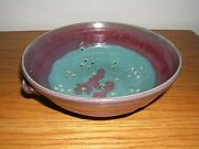 Signed Pottery Bowl Strainer/Drainer/Colander Hand Crafted