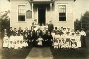 People Outside German Evangelical Church And Original Antique Photo Westfield Nj