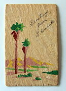 Yucca Wood Greetings From Glendale Postcard