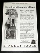 1927 Old Magazine Print Ad, Stanley Tool Chests, Making A House Into A Home