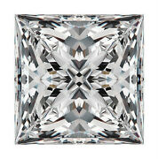 Princess Cut Shape Moissanite Loose Gemstones, Charles And Colvard All Certified