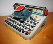 Painted Tin 1950s Dependable Toy Typewriter - Uneek Artie Brand - Made In Usa