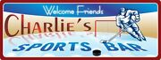 Personalized Sports Bar Sign Hockey Fans Wall Art Plaque Man Cave Decor C1180