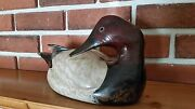 Vintage Carved Wood Duck Decoy Hand Painted By Max Thompson 76/250