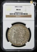 1892-o Vam-12a 9 In Hair R-6 Rare Variety Ngc Ms61 Uncirculated Key Date Coin