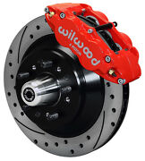 Wilwood Disc Brake Kitfront58-68 Fordmercury13 Drilled Rotorsred Calipers