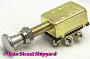 Marine Boat 3 Position Push-pull Panel Switch Off-on-on Screw Terminals 11921