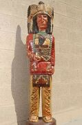5and039 Wooden Cigar Store Indian 5 Ft Sculpture Red Shirt Native Frank Gallagher
