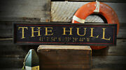 Custom Boat House Dock Sign - Rustic Hand Made Distressed Wooden