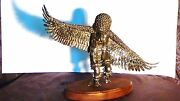 Kachina Soldered Brass Work Statueof A Posed Eagle Dancerapparently Unmarked