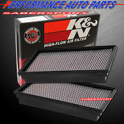 Two Kandn 33-2127 Hi-flow Air Intake Filters For 1995-2002 E350 Econoline 7.3l V8