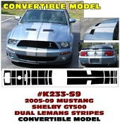 K233 2005-09 Mustang - Shelby Gt500 Lemans Stripe - Convertible Only