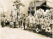 Group Of Japanese Imperial Soldiers Posing For The Camera And Original 1940s Photo