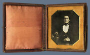 1/6 Plate Daguerreotype Photo Portrait Of A Handsome Man With Book