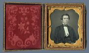 Early Sixth-plate Daguerreotype Photo Portrait Of A Young Handsome Gentleman