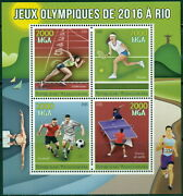 Summer Olympic Games Rio 2016 Brazil Olympics Madagascar Mnh Stamp Set 4val+s/s