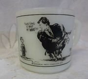 Unmark Ted Kennedy 1979 White Milk Glass Coffee Mug Collectible