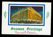 3 Vintage Toronto Maple Leafs Christmas Cards Signed By Harold Ballard