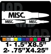 Misc Rifle Gun Decals Ammo Can Label Stickers Safe Springfield Marlin Browning