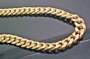 Real 10k Cuban Link Chain 26 Inch 10 Mm Men Necklace Box Clasp