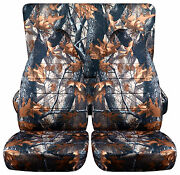 Cool Set Front+back Seat Covers Camo Tree Design Fits 1989-1996 Geo Tracker