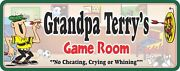 Personalized Man Cave Decor Funny Novelty Game Room Sign, Darts And Pinball, C1026