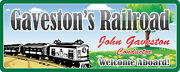 Welcome Aboard Lionel Railroad Personalized Sign Black And White Engine
