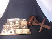 Old Vtg Antique Stereo Viewer Saturn Scope James M Davis Stereoscope Pictures