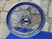 16 40 Spoke Chrome Wheel For Harley Fl Shovelhead Big Twin 67-72
