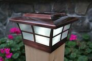 Solar Post Cap Led Deck Fence Lights 6x6 Wood Post Copper Electroplated 8 Pack