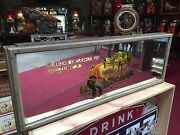 1950and039s Reverse Etched Glass 51 Advertising Sign Harolds Club Casino In Reno