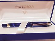 Vintage Waterman Phileas Fountain Pen Mineral Blue Medium Point Collectible