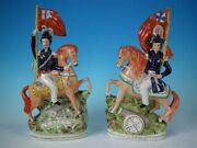Pair Staffordshire And039simpson And Brownand039 Generals On Horseback